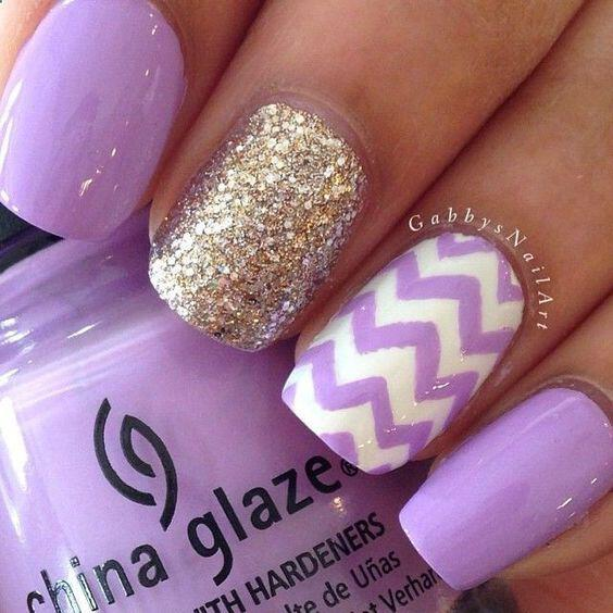15 Beautiful Chevron Nail Designs To Try This Summer