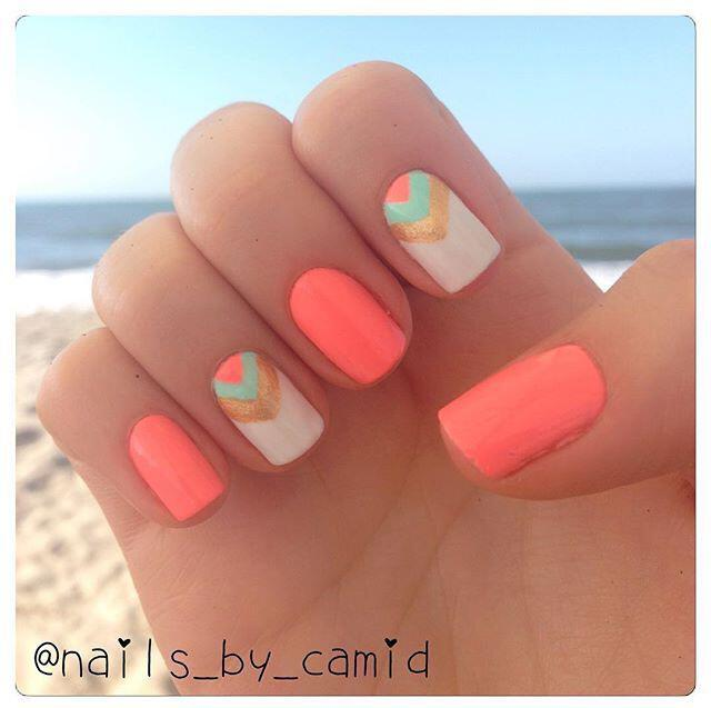 15 beautiful chevron nail designs to try this summer - 15 beautiful chevron nail designs to try this summer