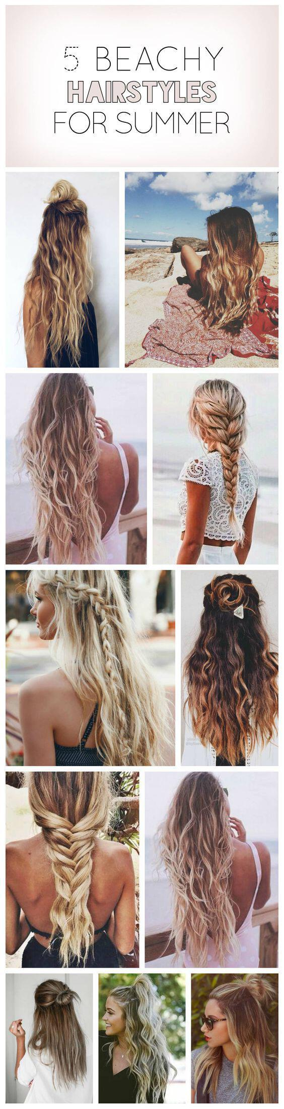 15 gorgeous and easy beach hairstyles to rock this summer 1 - 15 Gorgeous and Easy Beach Hairstyles to rock this summer