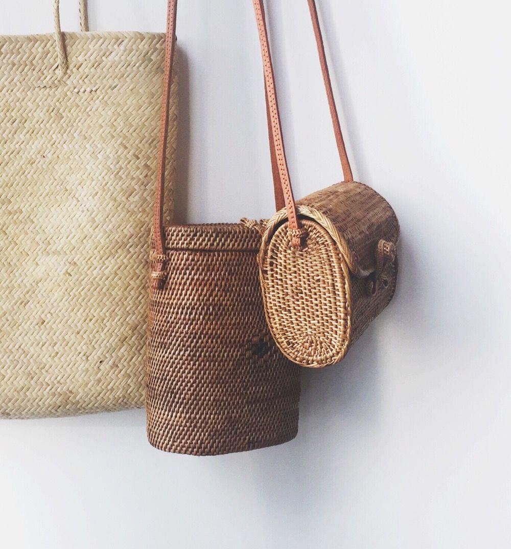 15 stylish woven bag outfits for the summer 6 - 15 stylish woven bag outfits for the summer