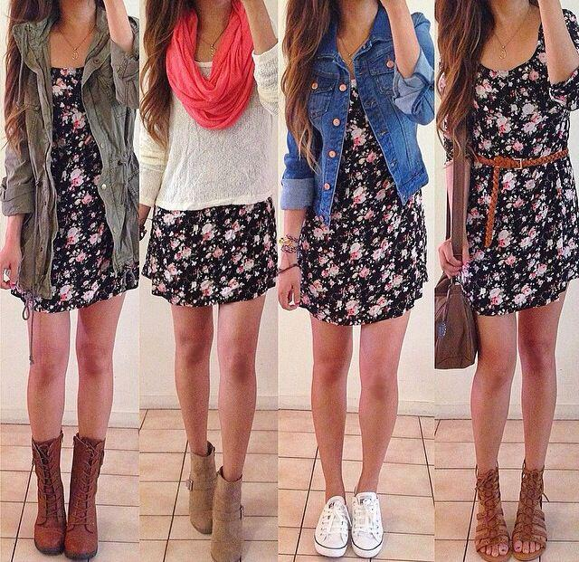 12 floral dress outfits to transition from summer to fall - 12 floral dress outfits to transition from summer to fall