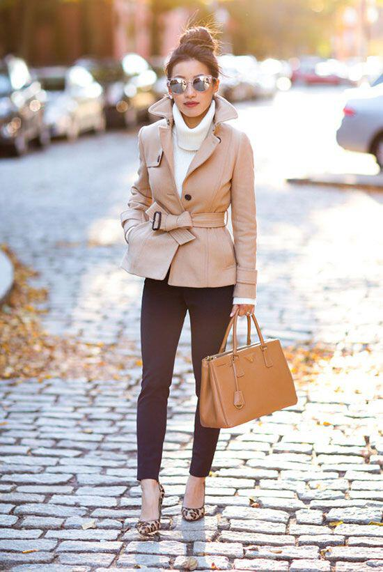 25 fall work outfit with a trench coat 8 - 25 fall work outfit with a trench coat