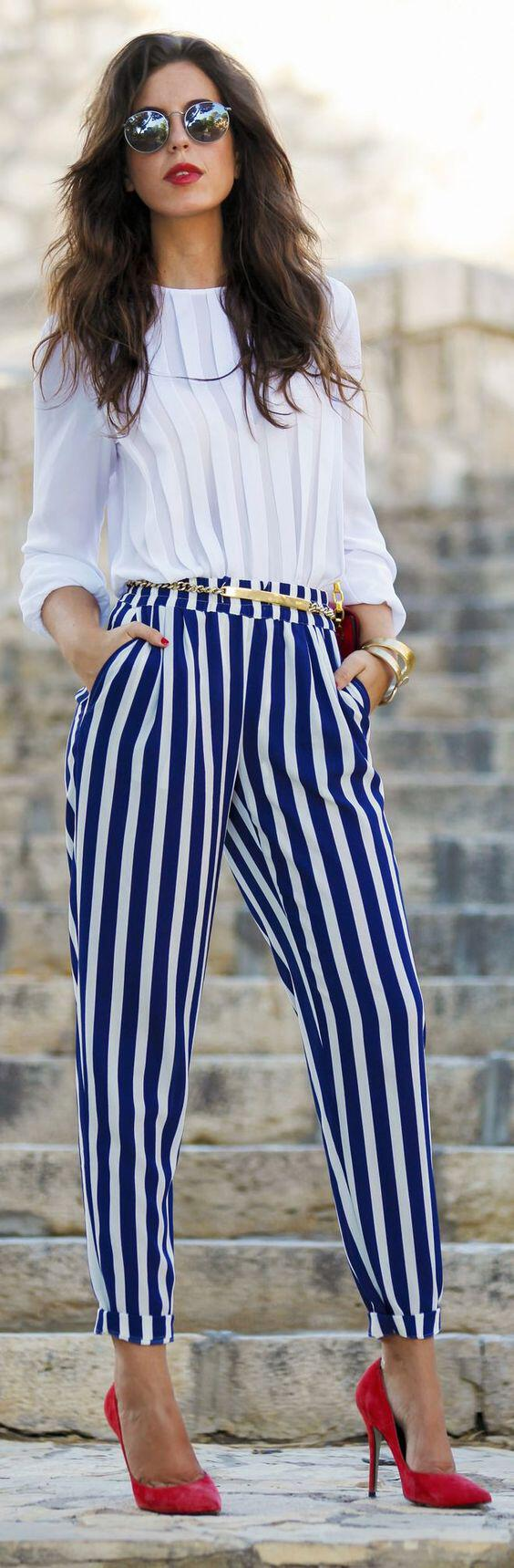 5 ways to wear striped pants and looking like like wearing pajamas - 5 ways to wear striped pants and not look like wearing pajamas