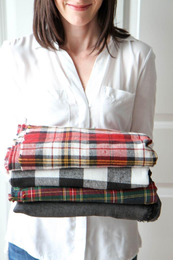 15 cute plaid blanket scarf outfits for fall 1 - 15 cute plaid blanket scarf outfits for fall