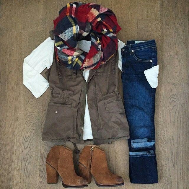 15 cute plaid blanket scarf outfits for fall 10 - 15 cute plaid blanket scarf outfits for fall