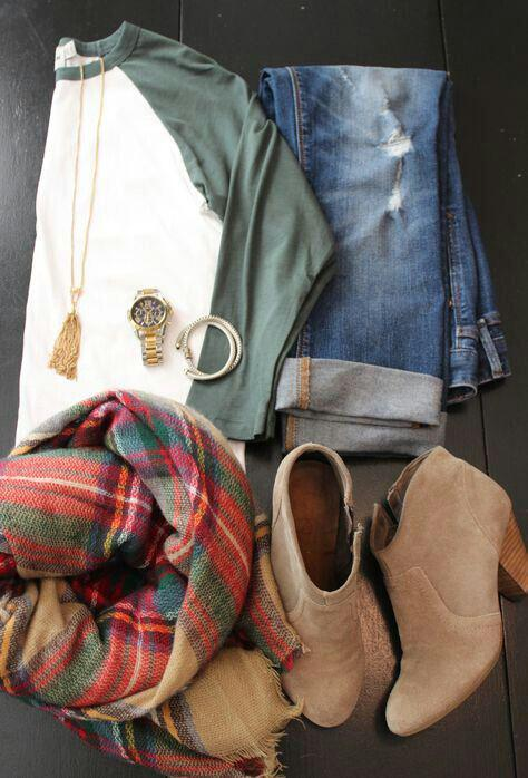 15 cute plaid blanket scarf outfits for fall 6 - 15 cute plaid blanket scarf outfits for fall