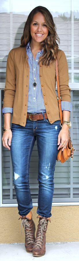 15 gingham shirt work outfits for women 1 - 15 beautiful gingham shirt work outfits for women