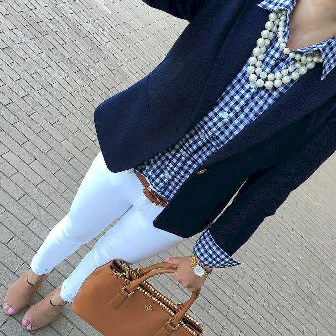 15 gingham shirt work outfits for women - 15 beautiful gingham shirt work outfits for women