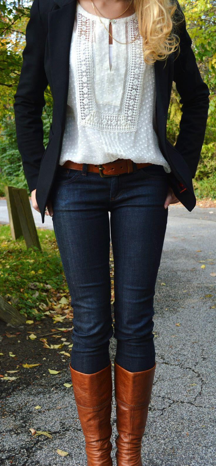15 stylish fall outfits with cognac boots 1 - 15 stylish fall outfits with cognac boots