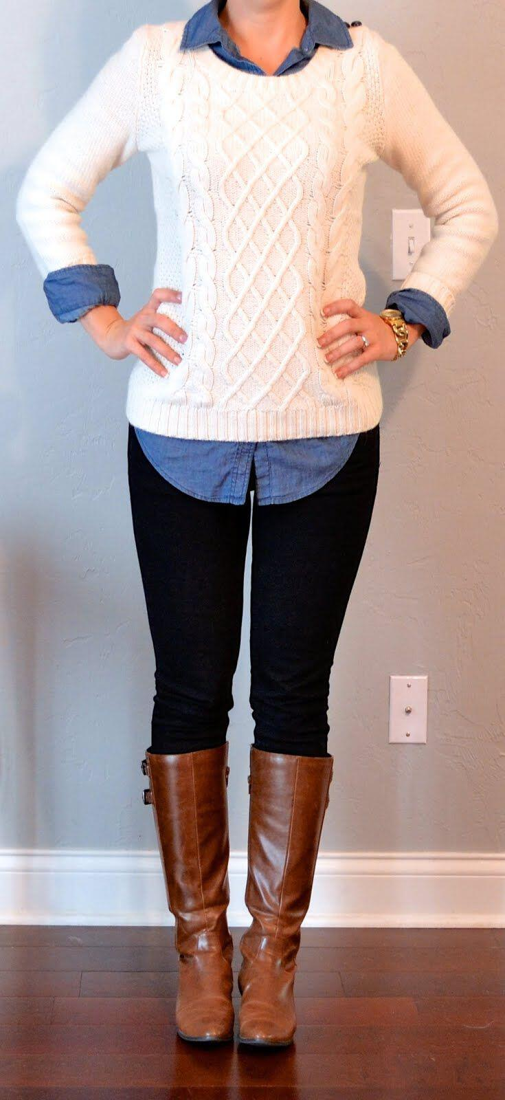 15 stylish fall outfits with cognac boots 10 - 15 stylish fall outfits with cognac boots