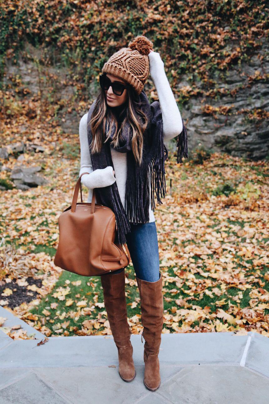 15 stylish fall outfits with cognac boots 13 - 15 stylish fall outfits with cognac boots