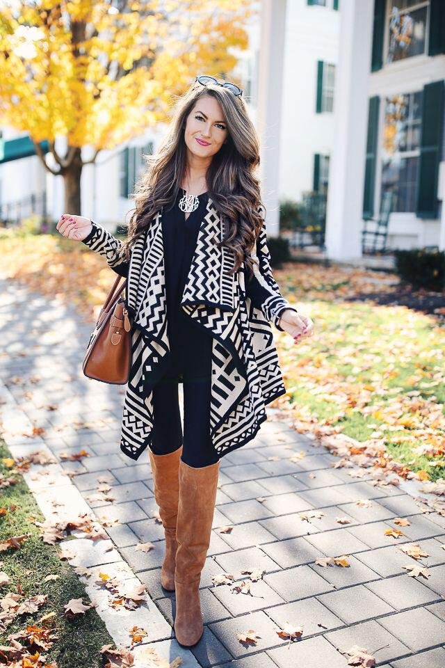 15 stylish fall outfits with cognac boots 14 - 15 stylish fall outfits with cognac boots