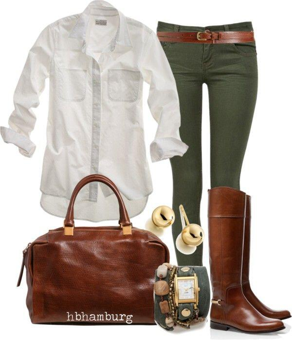 15 stylish fall outfits with cognac boots 2 - 15 stylish fall outfits with cognac boots