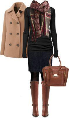 15 stylish fall outfits with cognac boots 9 - 15 stylish fall outfits with cognac boots