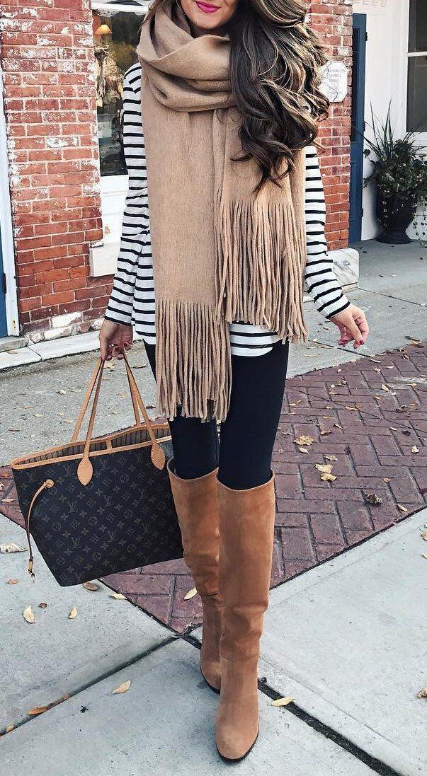 15 stylish fall outfits with cognac boots - 15 stylish fall outfits with cognac boots
