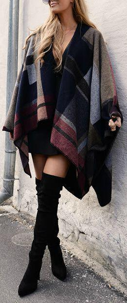 how to wear a cape outfit this fall 15 looks you can copy 14 - How to wear a cape outfit this fall -15 looks you can copy