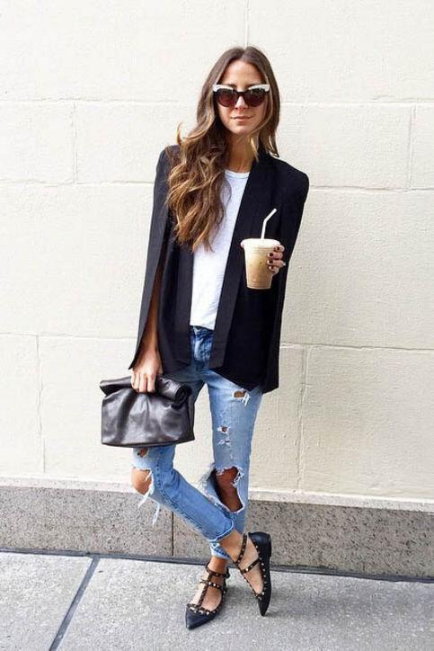 how to wear a cape outfit this fall 15 looks you can copy 5 - How to wear a cape outfit this fall -15 looks you can copy