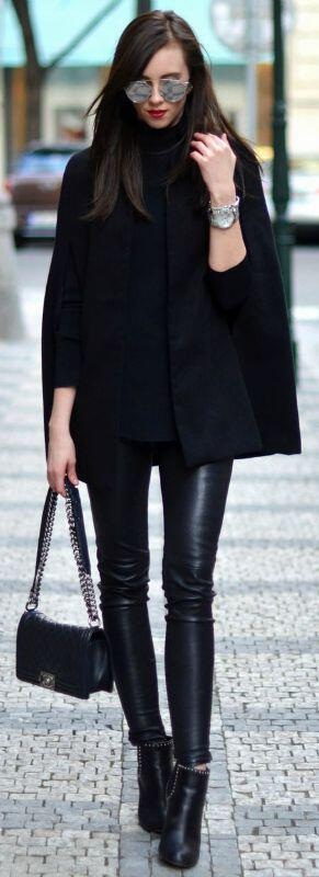 how to wear a cape outfit this fall 15 looks you can copy 6 - How to wear a cape outfit this fall -15 looks you can copy