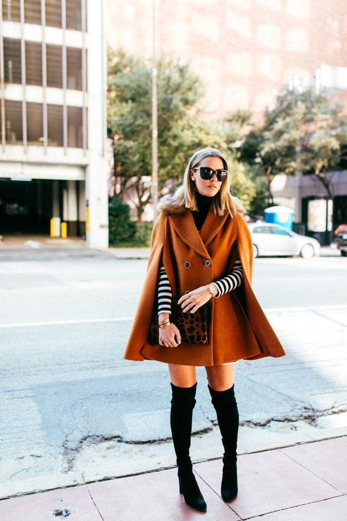 how to wear a cape outfit this fall 15 looks you can copy 8 - How to wear a cape outfit this fall -15 looks you can copy