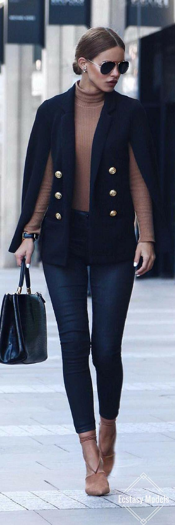 how to wear a cape outfit this fall 15 looks you can copy - How to wear a cape outfit this fall -15 looks you can copy