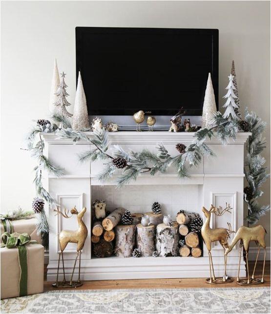35 Beautiful Xmas Fireplace Decor Ideas