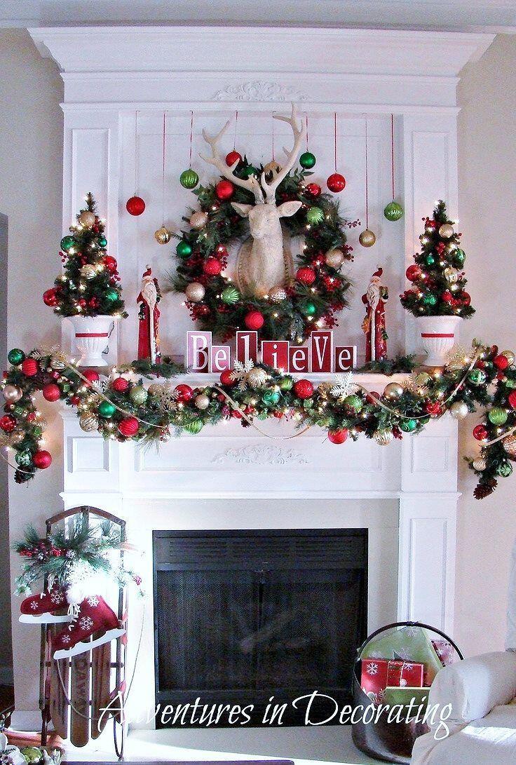 35 Beautiful Xmas Fireplace Decor Ideas Page 4 Of 36