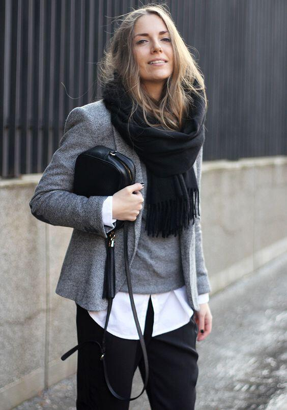 25 chic work outfits with a grey blazer 16 - 25 chic work outfits with a grey blazer