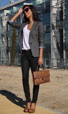 25 chic work outfits with a grey blazer 2 - 25 chic work outfits with a grey blazer