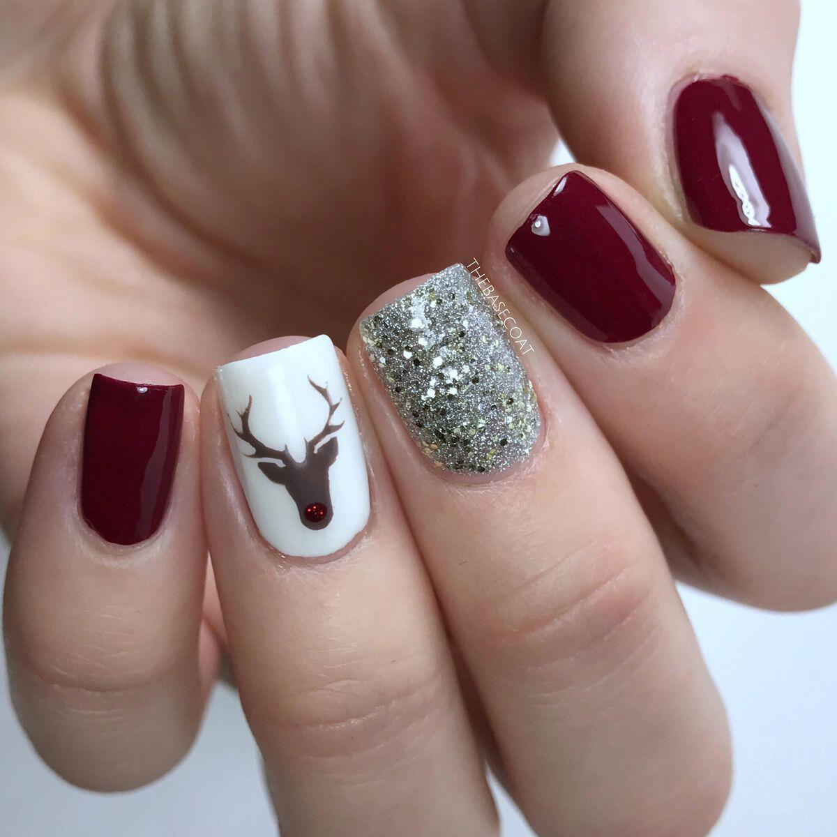 Christmas Diy Nail Ideas And More Of Our Manicures From: 25 Christmas Nails To Get Ideas From