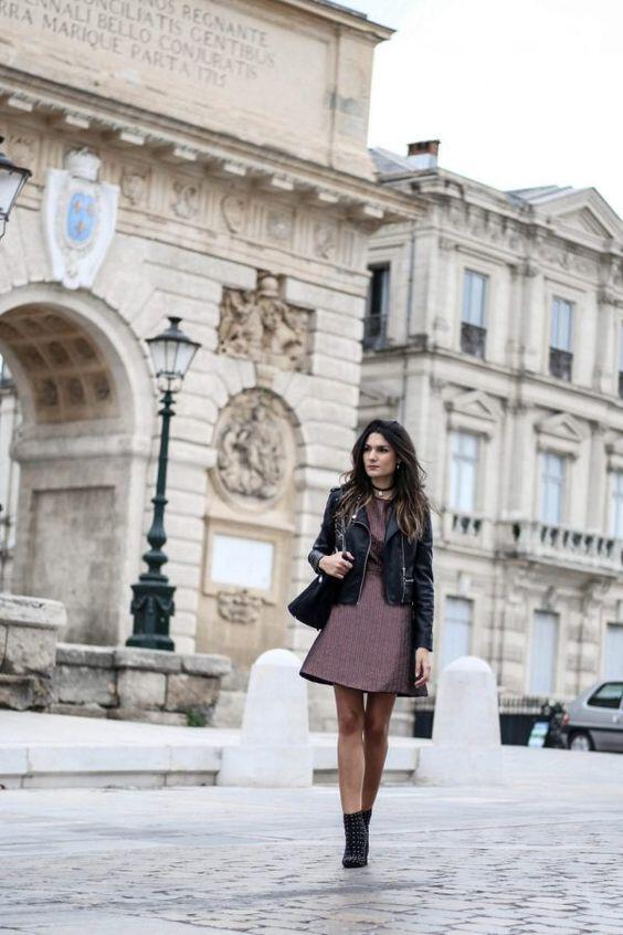 how to wear a leather jacket with a dress 30 best outfits 33 - how to wear a leather jacket with a dress, 30 best outfits