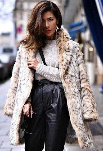 31 trendy leopard coat outfits that are actually easy to copy 4 e1515965033285 - 31 trendy leopard coat outfits that are actually easy to copy